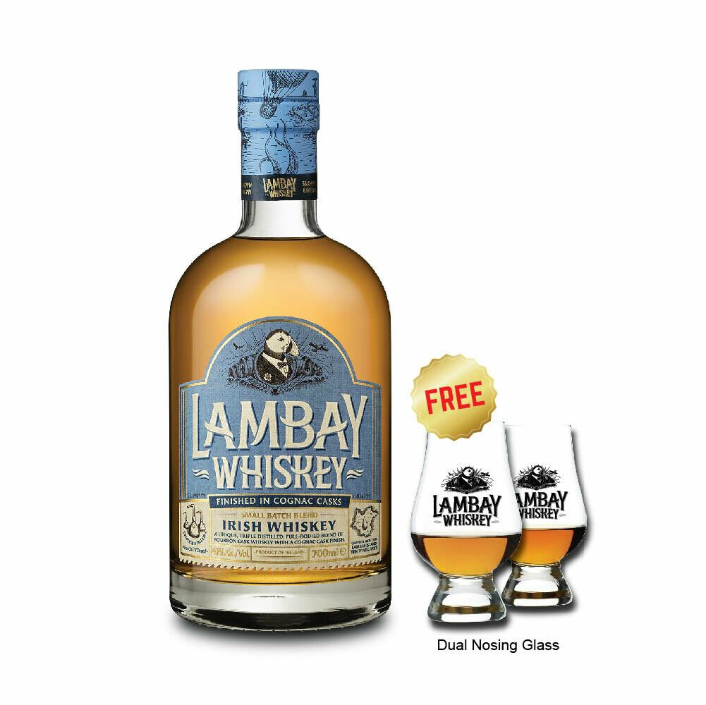 (Free Nosing Glasses) Lambay 'Small Batch Blend' Irish Whiskey