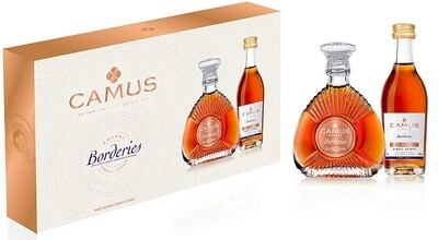 Camus 'Borderies' Cognac Miniature Collection 2 in 1 Set
