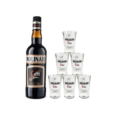 (Free Shooter Glasses) Molinari Caffe Liquore