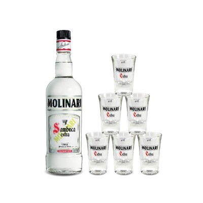 (Free Shooter Glasses) Molinari Sambuca