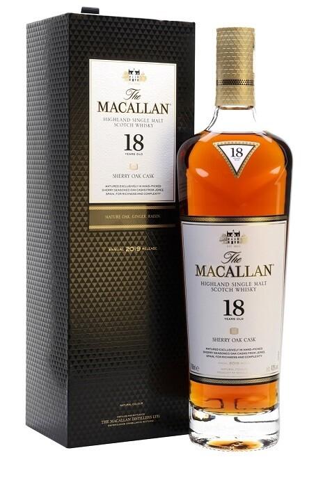 Macallan '18 Years Old Sherry Cask' Single Malt Whisky
