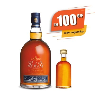[Free Miniature + RM100 OFF] Camus 'Ile de Re - Cliffside Cellar' Cognac