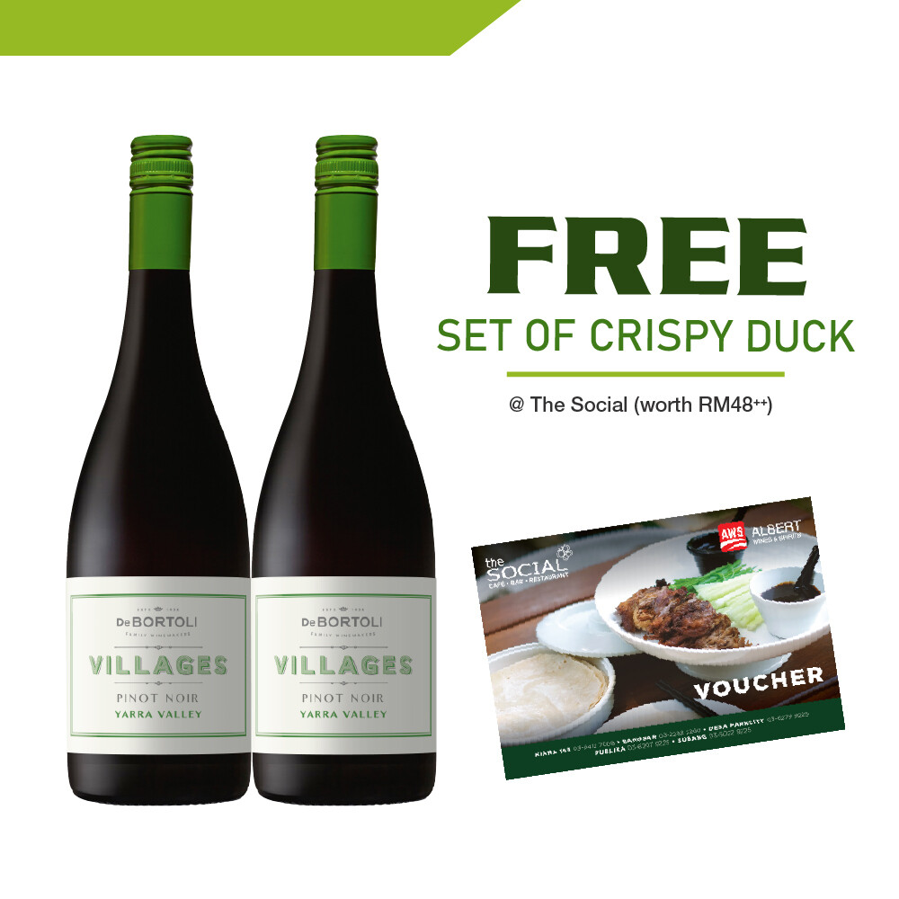 (Free Crispy Duck Set @ The Social) De Bortoli 'Villages' Yarra Valley Pinot Noir
