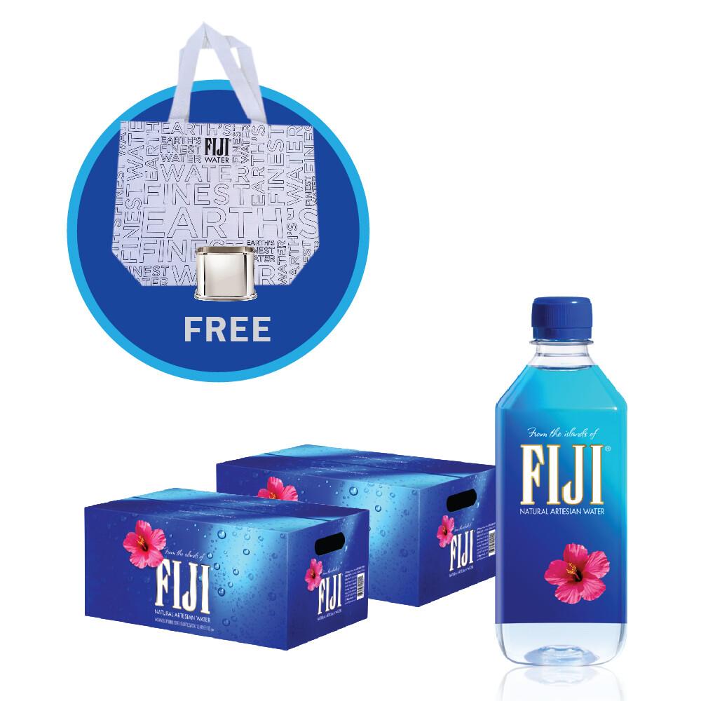 Fiji Water (48 x 500ml plastic btl) - Free Totes Bag & Silver Sleeve