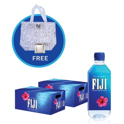 Fiji Water (48 x 500ml plastic btl) - Free Totes Bag & Silver Sleeve
