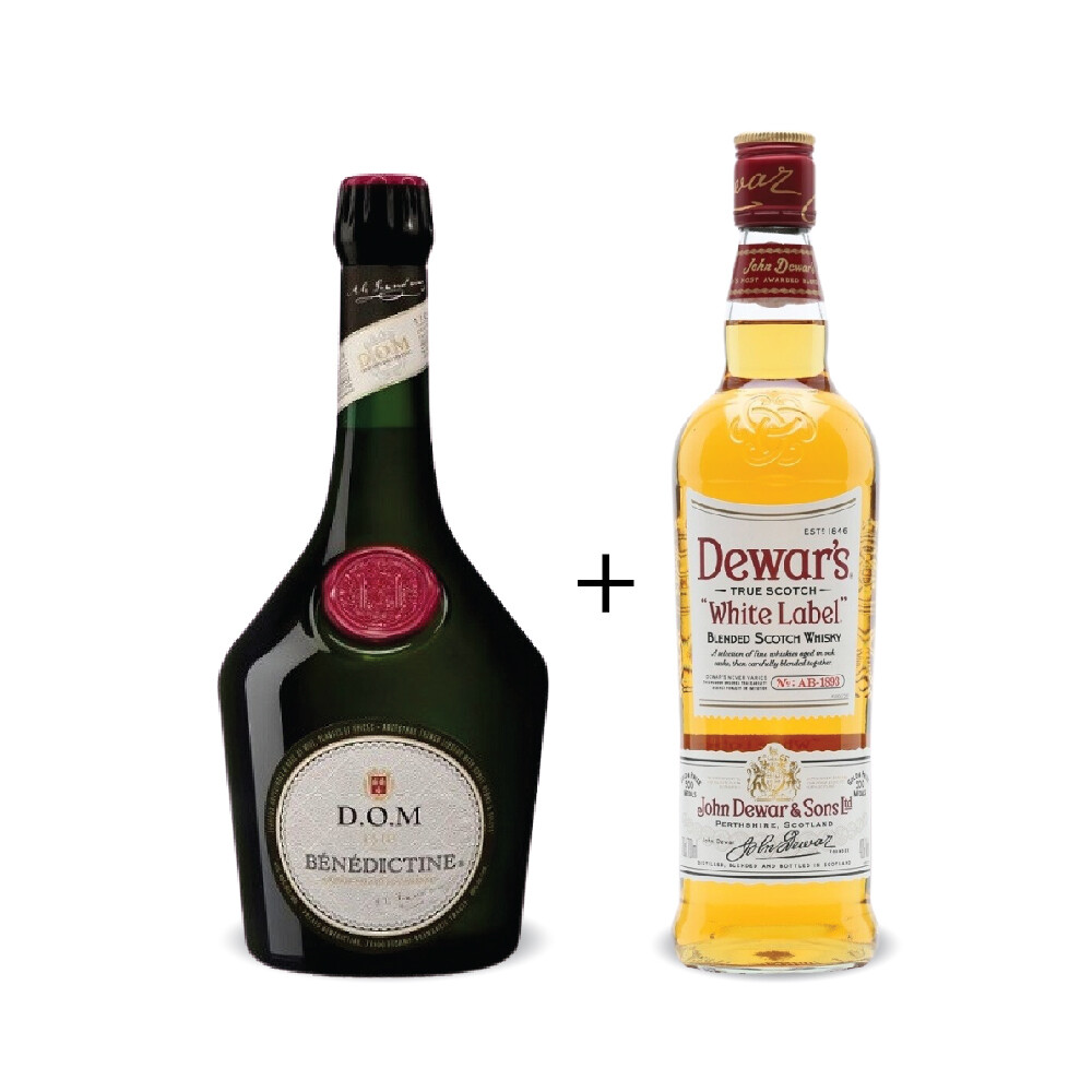 Benedictine 'D.O.M' Liqueur with Dewar's White Label  Bundle Pack