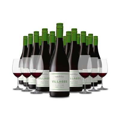(Free Crystal Glasses) De Bortoli 'Villages' Yarra Valley Pinot Noir 18Bottles Pack