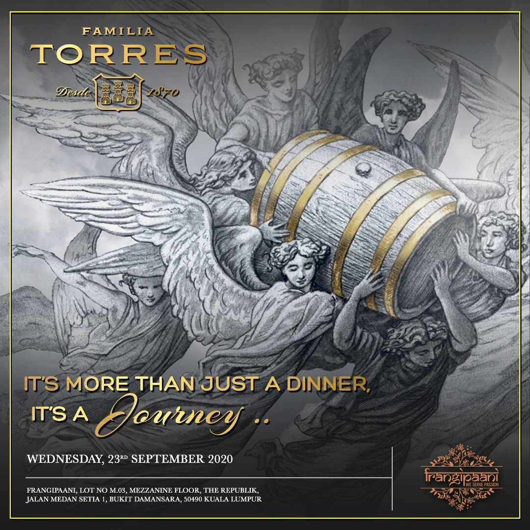 Familia Torres Wine Dinner @ Frangipaani - Sep 23rd 2020