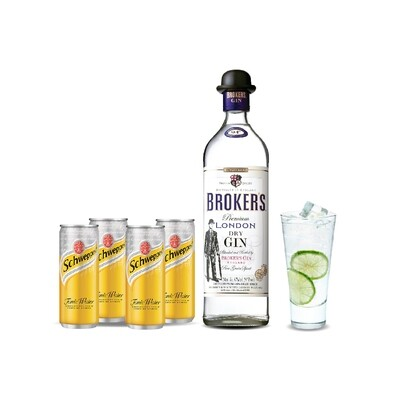 (Mixer Pack) Broker's London Dry Gin & Tonic