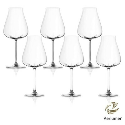 Lucaris 'Desire' Robust Red Crystal Glasses (Set of 6)