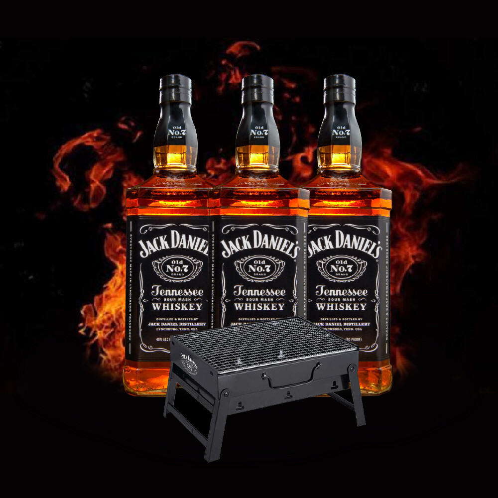 (Free Jack Daniel BBQ KIt) Jack Daniel's 3 Bottles Deal