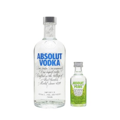 (Free Absolut 'Pears' Vodka 50ml Miniature) Absolut Vodka