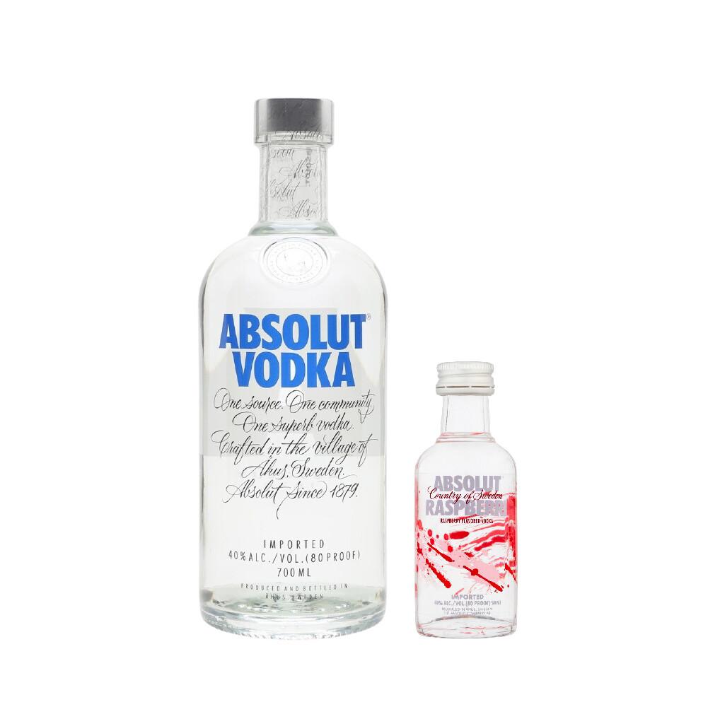 (Free Absolut 'Raspberri' Vodka 50ml Miniature) Absolut Vodka