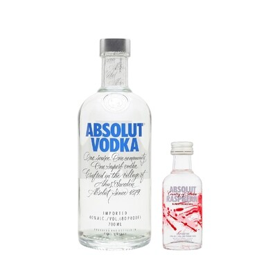 (Free Absolut 'Raspberri' Vodka 50ml Miniature) Absolut Vodka