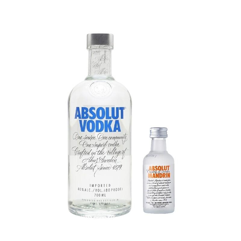 (Free Absolut 'Mandrin' Vodka 50ml Miniature) Absolut Vodka