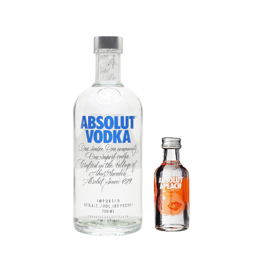 (Free Absolut 'Peach' Vodka 50ml Miniature) Absolut Vodka