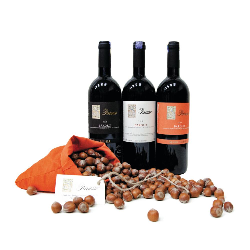 (Free Parusso Premium Piemonte Hazelnut) Parusso Barolo Mixed Party Pack