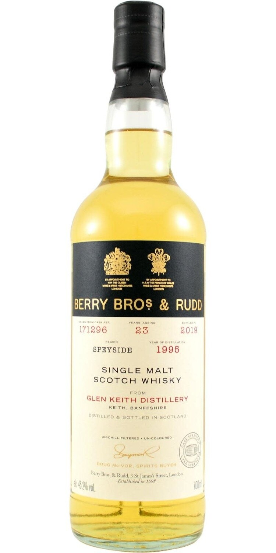 Berry Bros. & Rudd Single Malt Scotch Whisky – 23 Years Old 'Glen Keith' Single Cask 1995