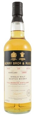 Berry Bros. & Rudd Single Malt Scotch Whisky – 26 Years Old 'Tullibardine' Single Cask 1993