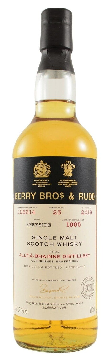 Berry Bros. & Rudd Single Malt Scotch Whisky – 23 Years Old 'Allt-a-Bhainne' Single Cask 1995