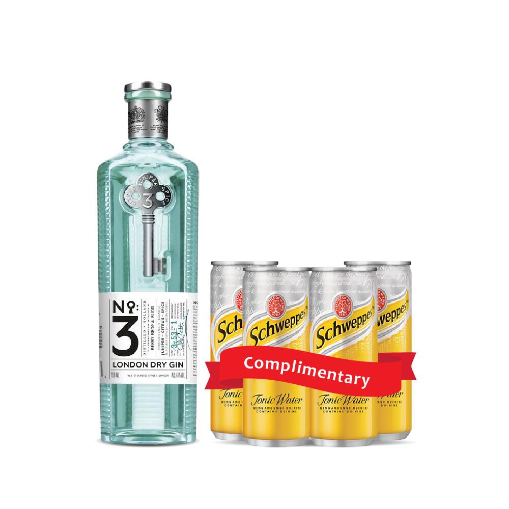 (Free Tonic) No3 London Dry Gin
