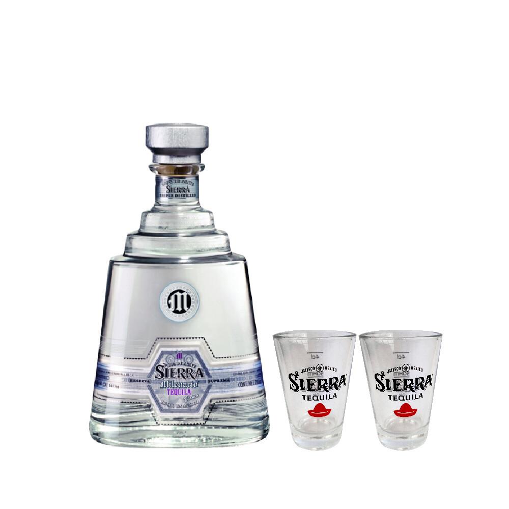 (Free 4cl Shooter Glass) Sierra Milenario 'Blanco' Tequila