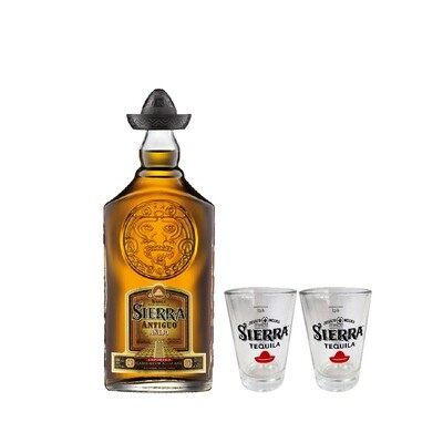 (Free 4cl Shooter Glass) Sierra 'Antiguo Anejo' Tequila