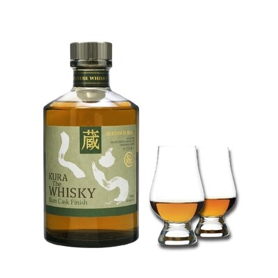 (Free Nosing Glasses) Kura 'Rum Cask Finish' Blended Malt Whisky