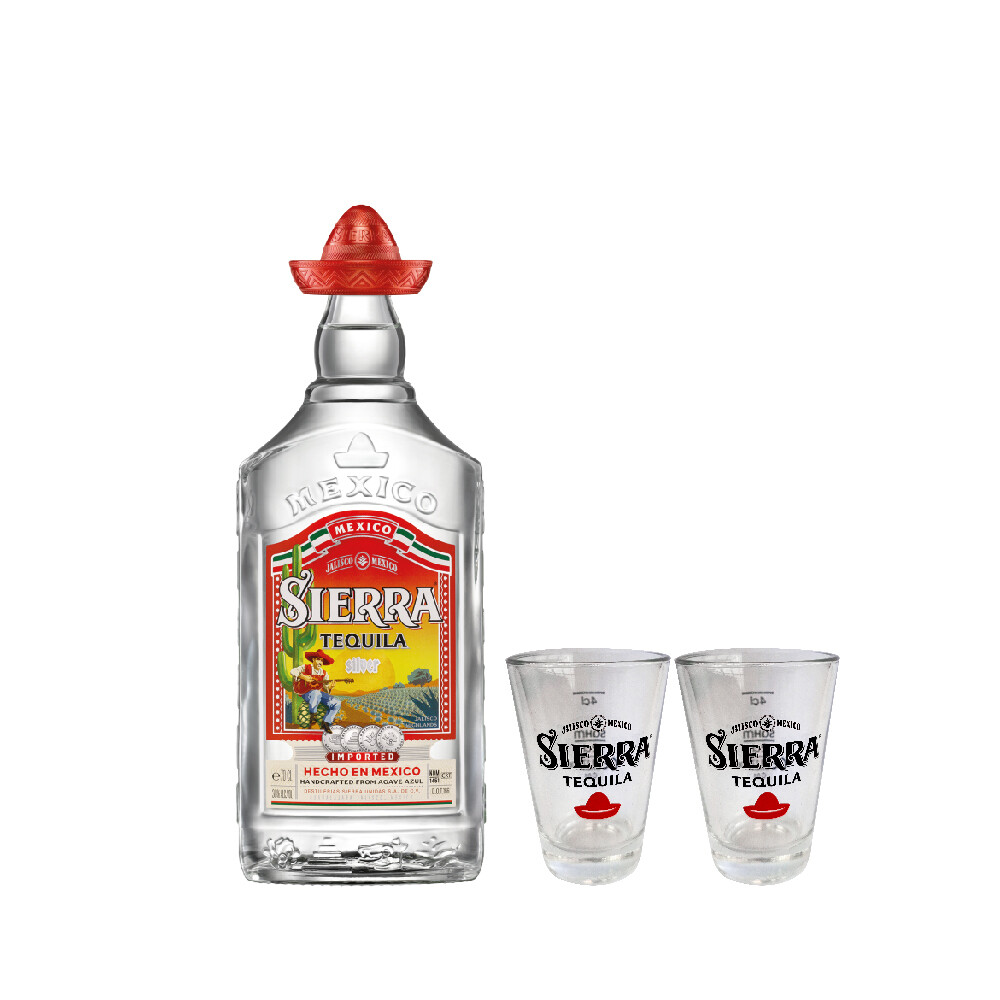 (Free 4cl Shooter Glass) Sierra 'Silver' Tequila