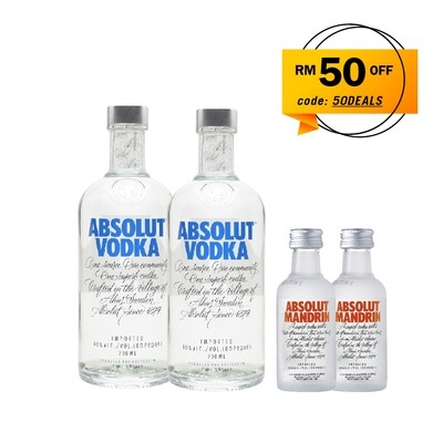 (Free 2 Miniature) Absolut Vodka Bundle Pack