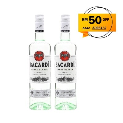 Bacardi 'Carta Blanca' Rum Twin Pack