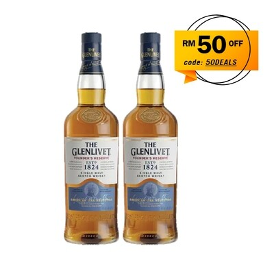 The Glenlivet 'Founder's Reserve' Single Malt Scotch Whisky Twin Pack