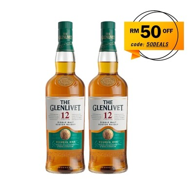 The Glenlivet '12 Years Old' Single Malt Scotch Whisky Twin Pack