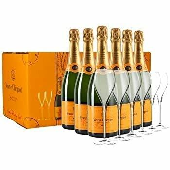 (Free 6 Glasses) Veuve Clicquot 'Yellow Label' Champagne 6 Btls Home Party Pack