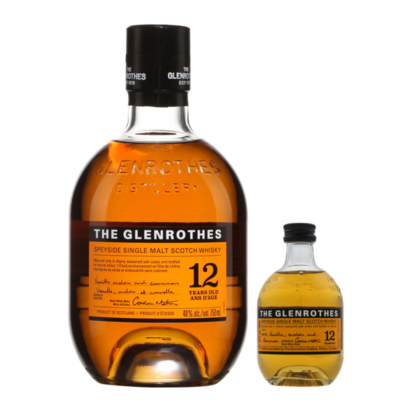 (Free 100ml Miniature) The Glenrothes '12 Years Old' Single Malt Scotch Whisky