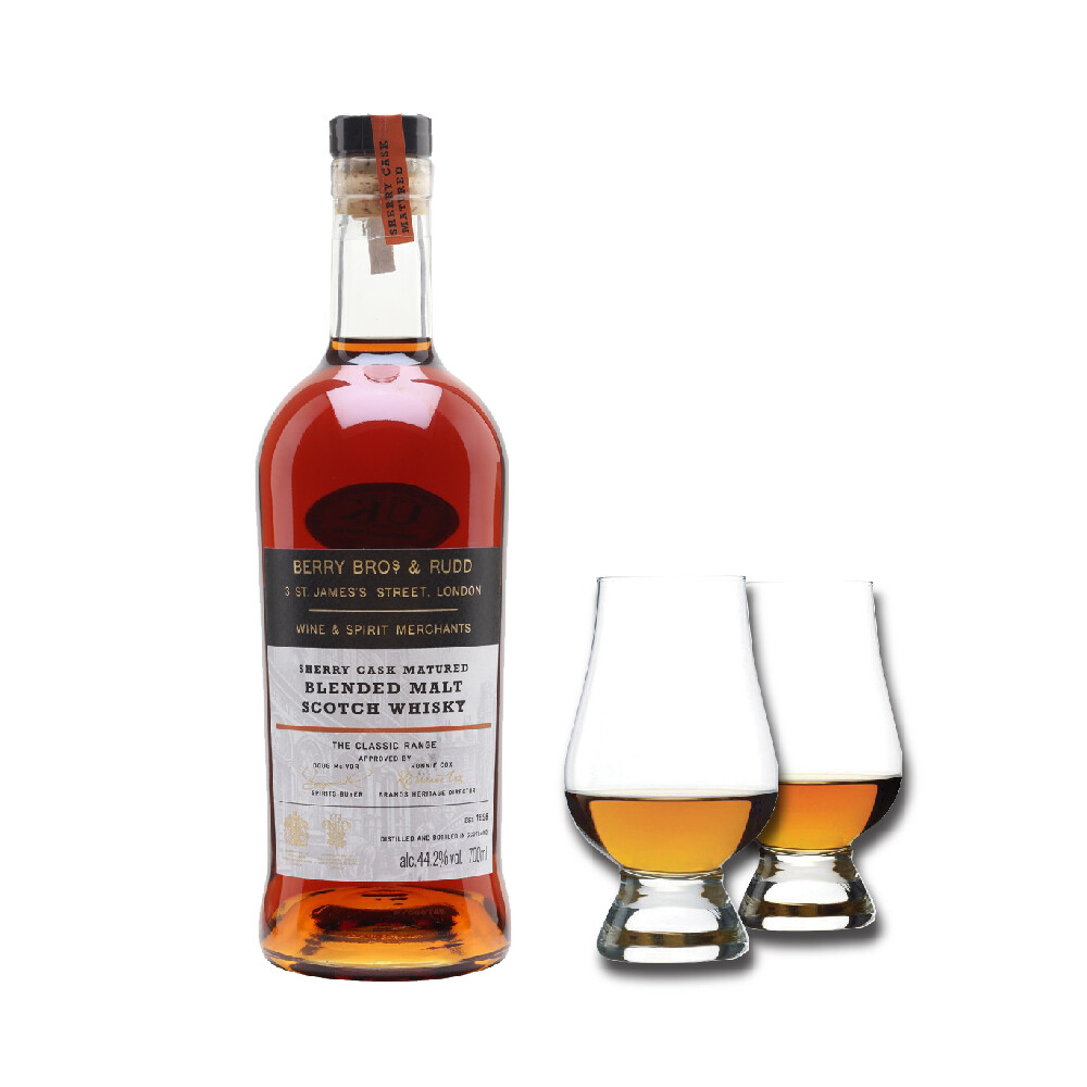 (Free 2 Nosing Glasses) Berry Bros. & Rudd 'Classic Sherry Cask' Blended Malt Scotch Whisky