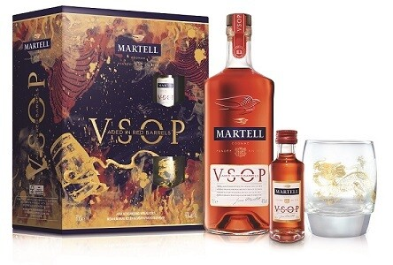Martell 'VSOP - Aged in Red Barrels' Cognac (Limited Edition Gift Pack with 1 Glass & 1 Miniature)