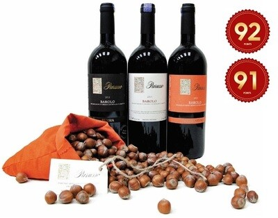 (Free Parusso Premium Piemonte Hazelnut) Parusso Barolo Mixed Party Pack