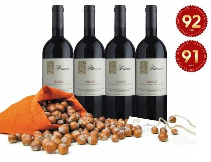 (Free Parusso Premium Piemonte Hazelnut) Parusso Barolo Party Pack