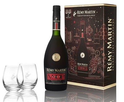 Remy Martin 'VSOP' Cognac (Limited Edition Gift Box with 2 Glasses)