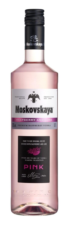 Moskovskaya 'Raspberry and Lime' Pink Vodka
