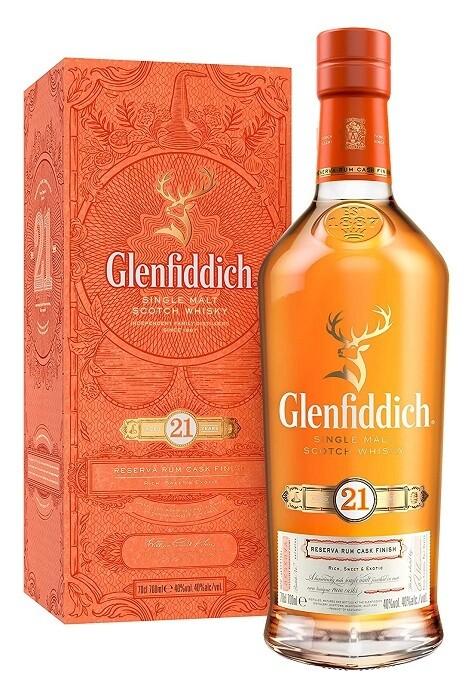 Glenfiddich '21 Years Old - Reserva Rum Cask Finish' Single Malt Scotch Whisky