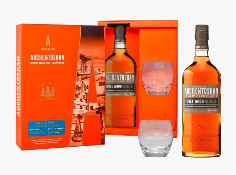 Auchentoshan 'Three Wood' Single Malt Scotch Whisky (Limited Edition Gift Pack with 1 Glass)