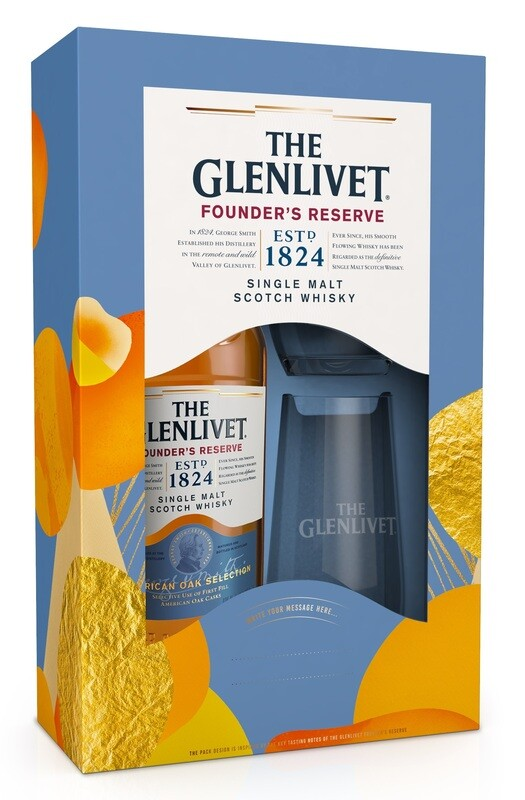 The Glenlivet 'Founder's Reserve' Single Malt Scotch Whisky (Limited Edition Gift Box with 2 High-Ball Glasses)