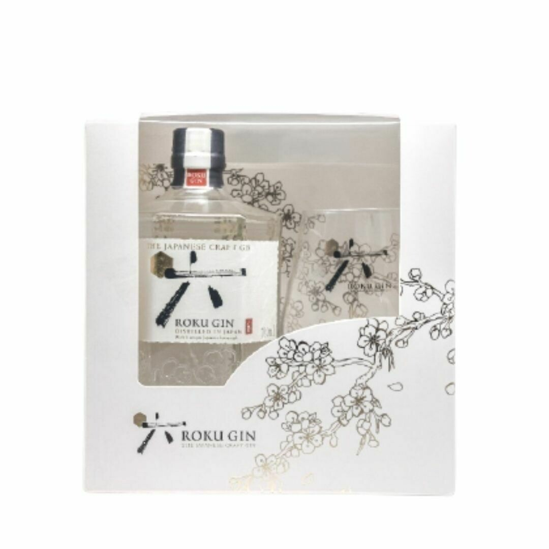 Roku Japanese Gin (Limited Edition Gift Pack with 1 Glass)