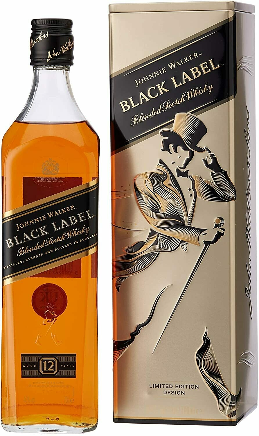 Johnnie Walker 'Black Label 12 Years Old' Blended Scotch Whisky (Limited Edition Metal Box)