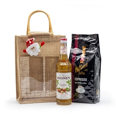 Christmas Gift Pack - Vittoria 'Espresso' Coffee Beans  with Monin