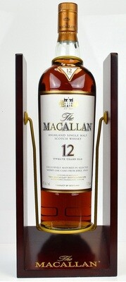 Macallan '12 Years Old Sherry Oak' Single Malt Whisky (1,750ml Magnum with Cradle)
