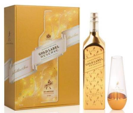 Johnnie Walker 'Gold Label Reserve' Blended Scotch Whisky (Limited Edition Bullion Bottle with Carafe)