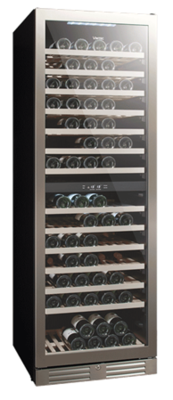 Vintec 'Seamless Series' Wine Cabinet - 138 bottles - Dual Temperature (V155SG2ES3)